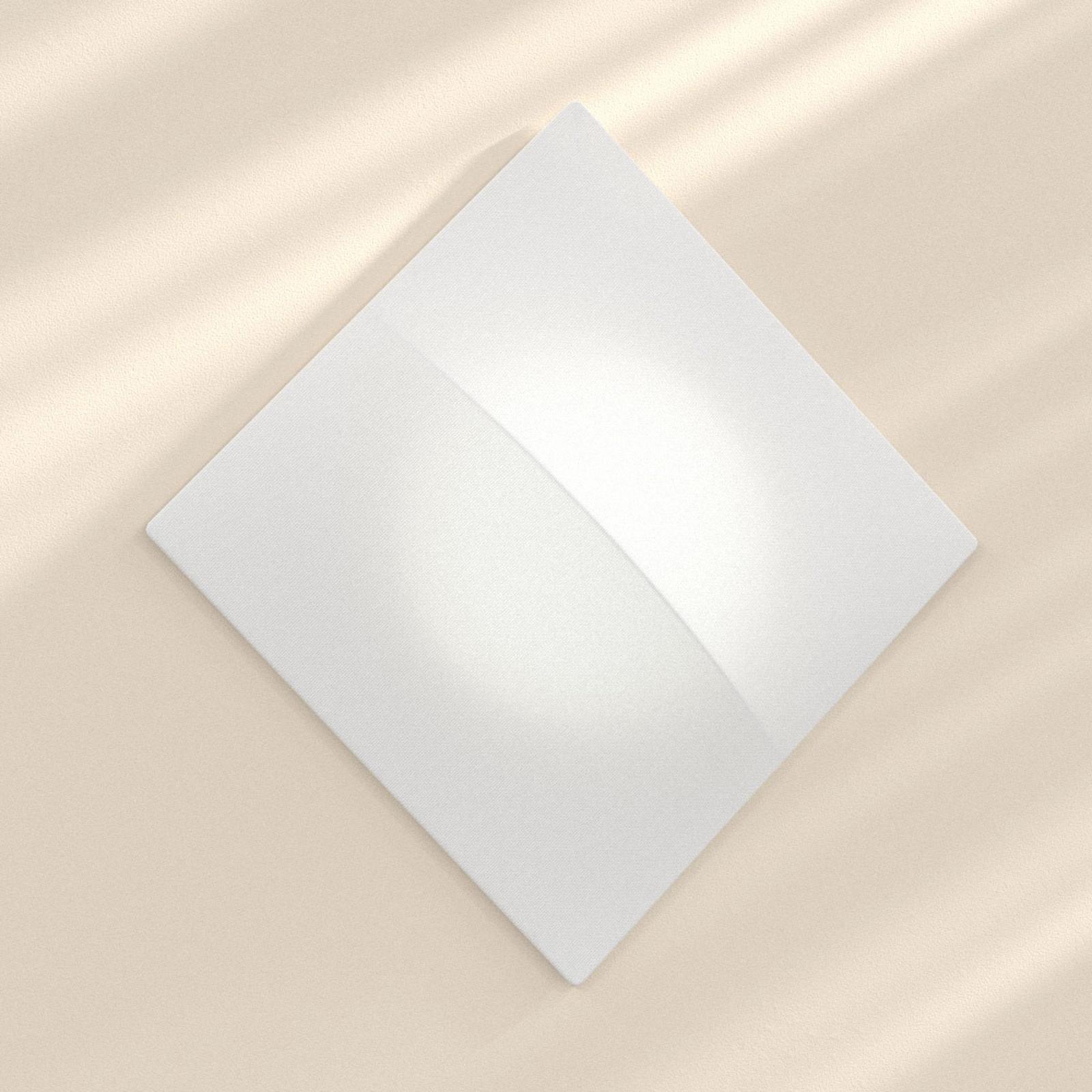 Nelly S - vierkante wandlamp met stof 100 cm