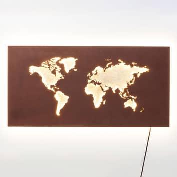 KARE Map LED-Wandleuchte mit Kabel und Stecker