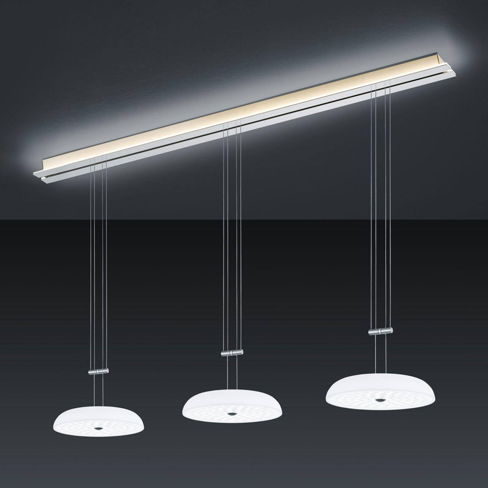 BANKAMP Strada Vanity hængelampe, 3 lysk., 155 cm