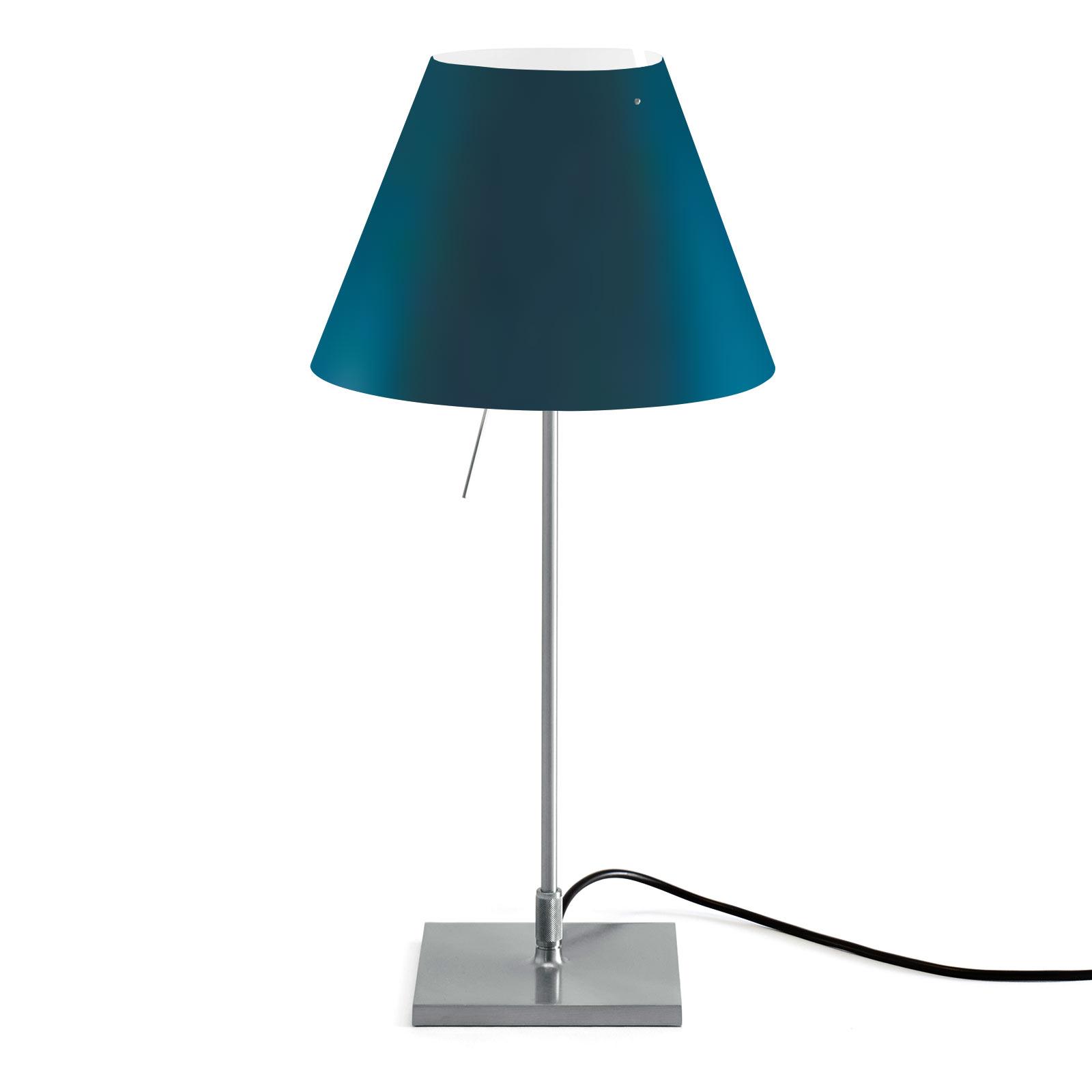 Luceplan Costanzina tafellamp alu, petroleumblauw