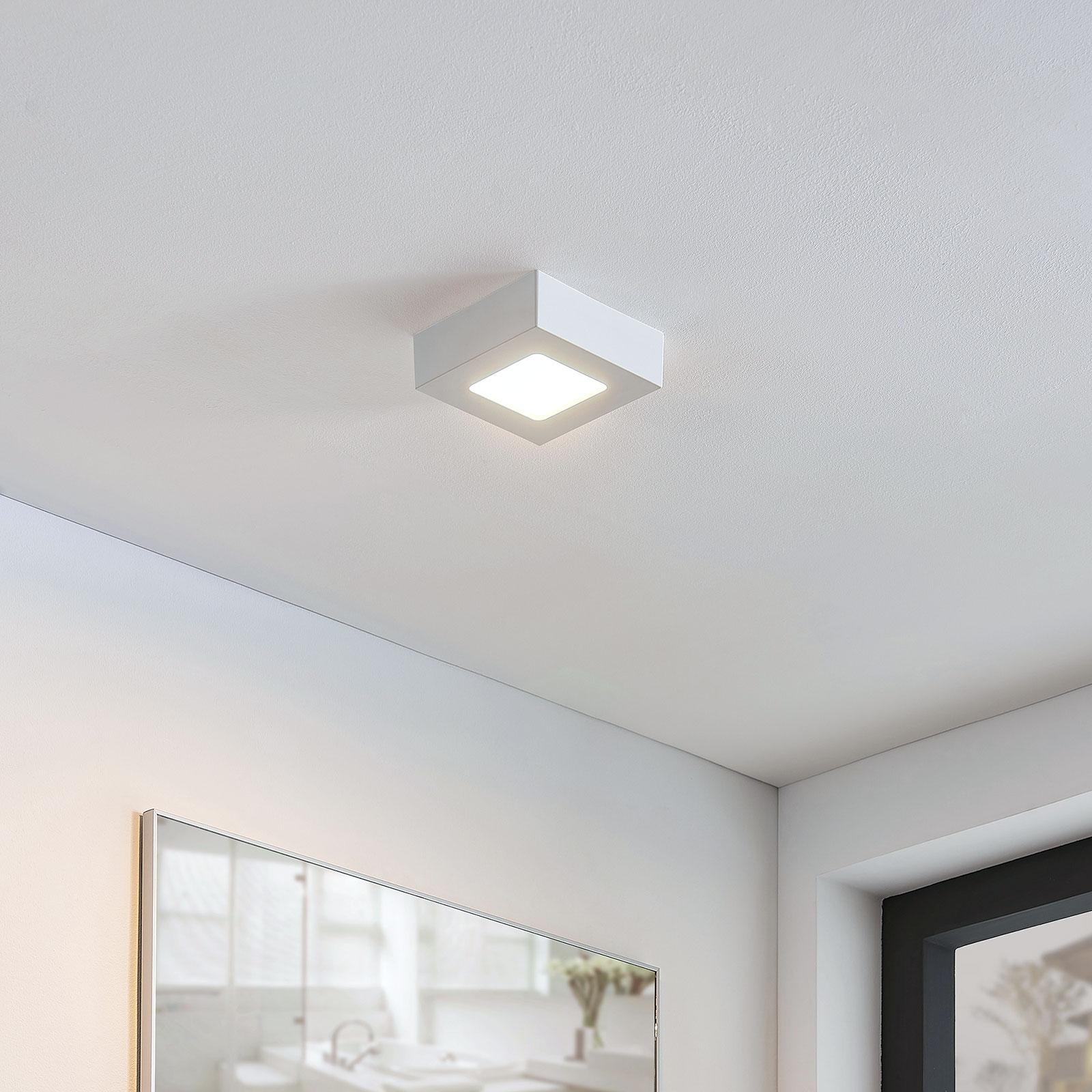 LED-Deckenlampe Marlo weiß 3000K eckig 12,8cm
