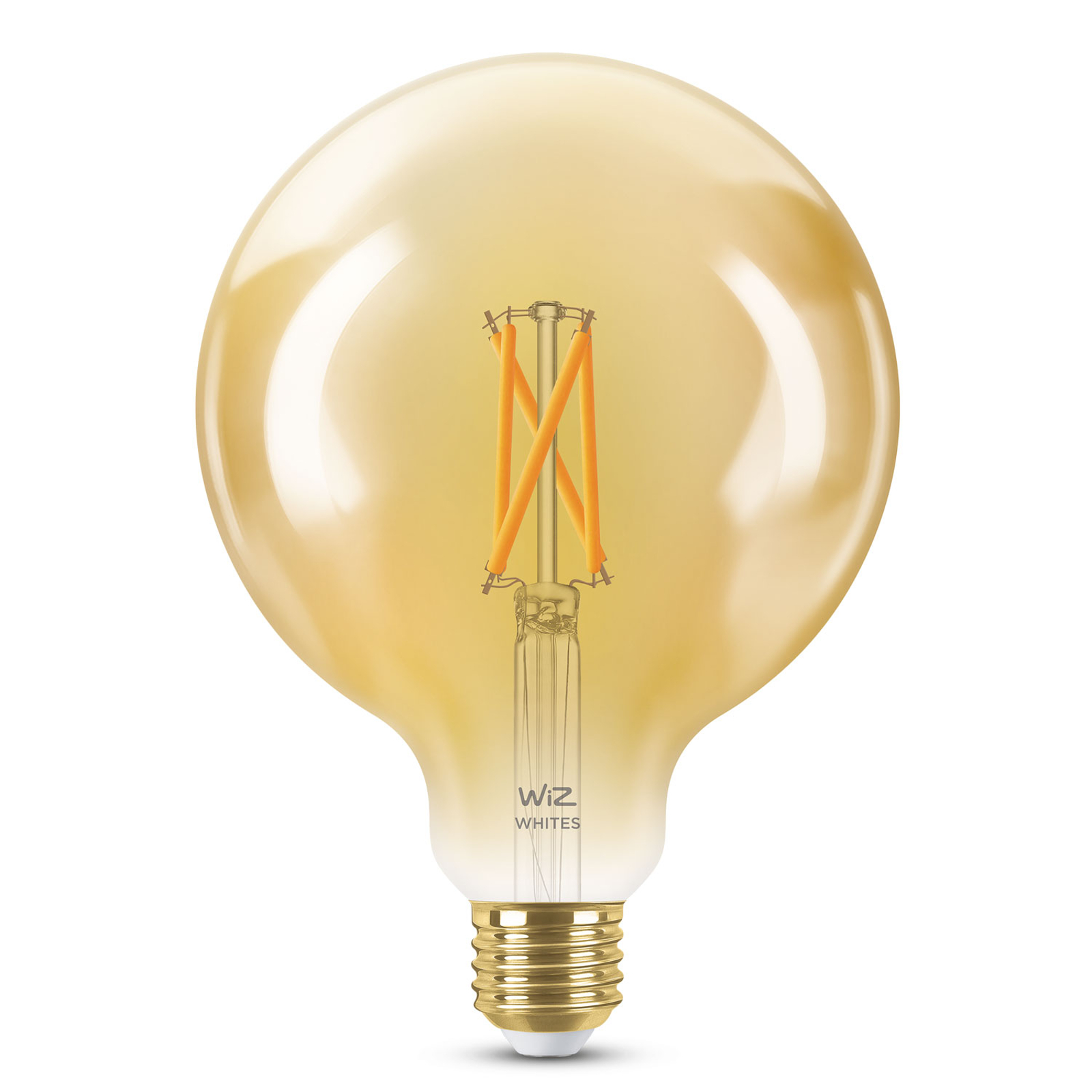WiZ E27 LED G95 Filament amber 6,5W 2.000-4.500K