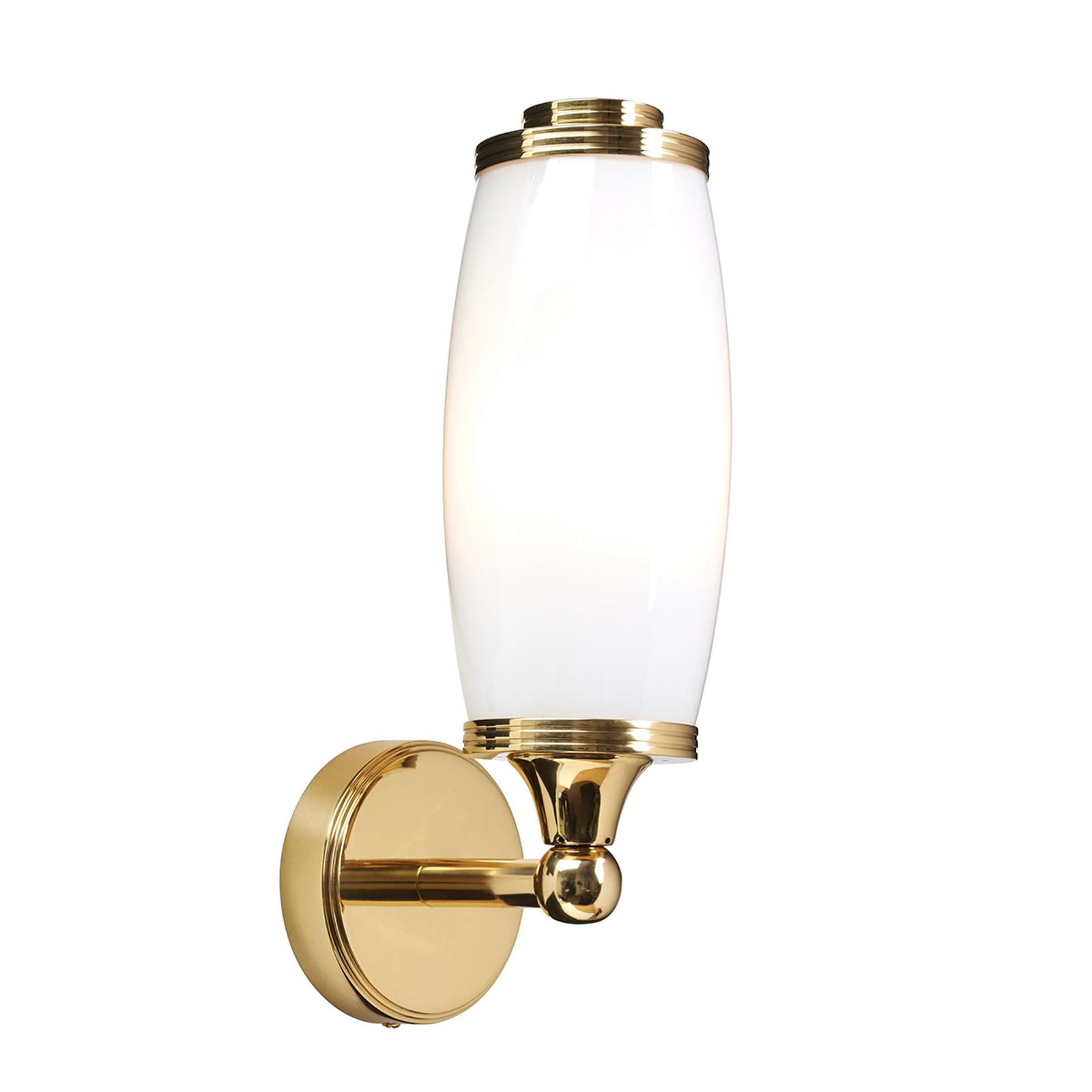 Applique LED Eliot Bath, ottone, 1 luce