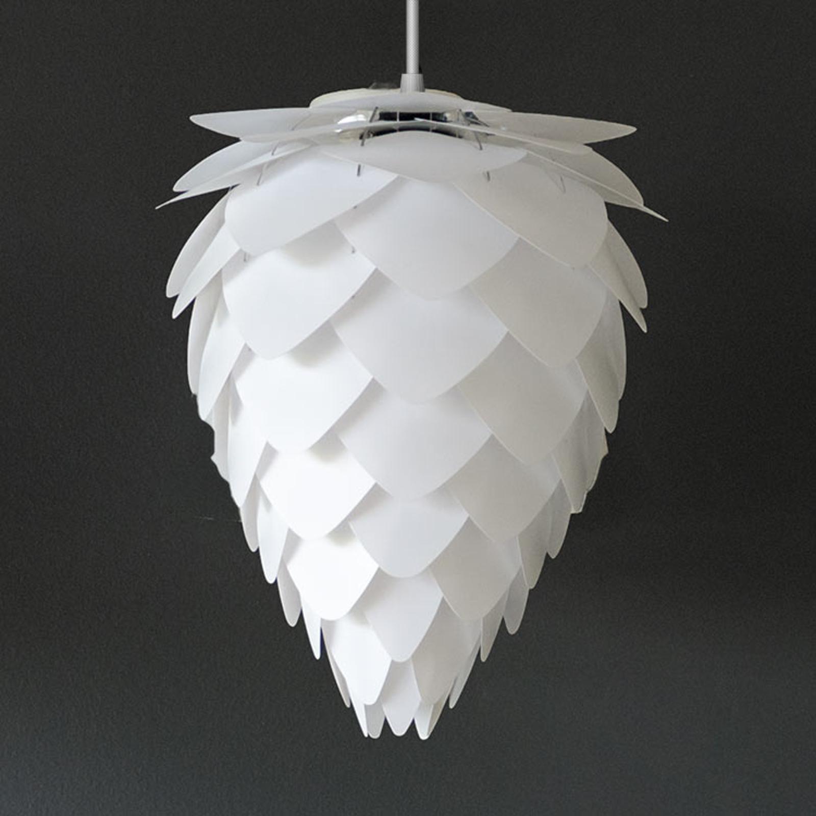 Lampa wisząca Conia mini, biała, stożkowata