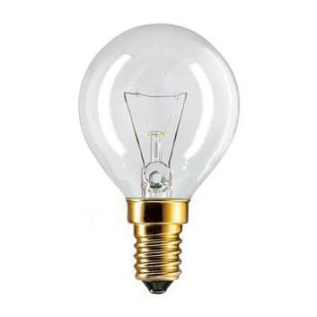 E14 40W žárovka kapka čirá až do 300° pro trouby