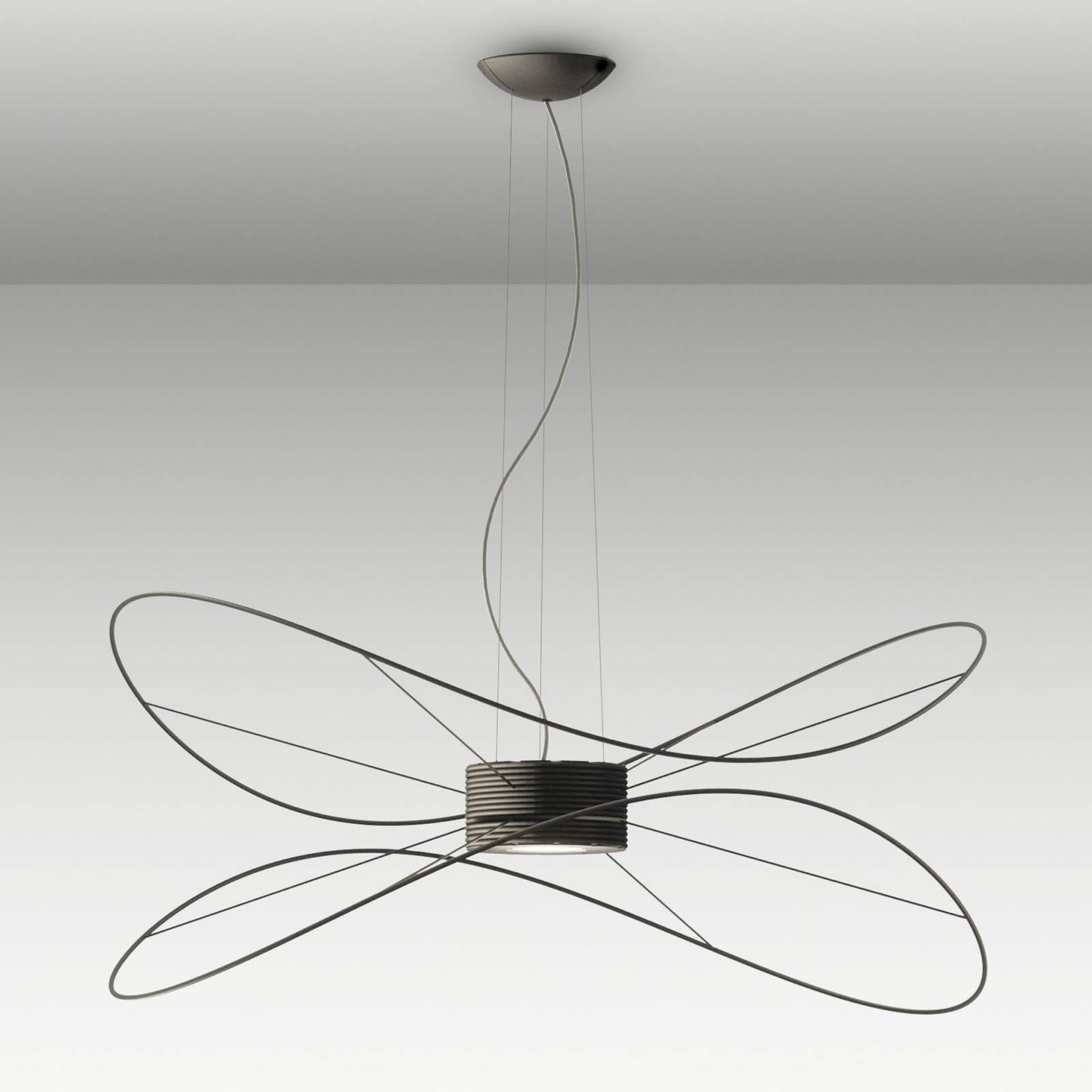 Axolight Hoops 2 lampa wisząca LED, czarna