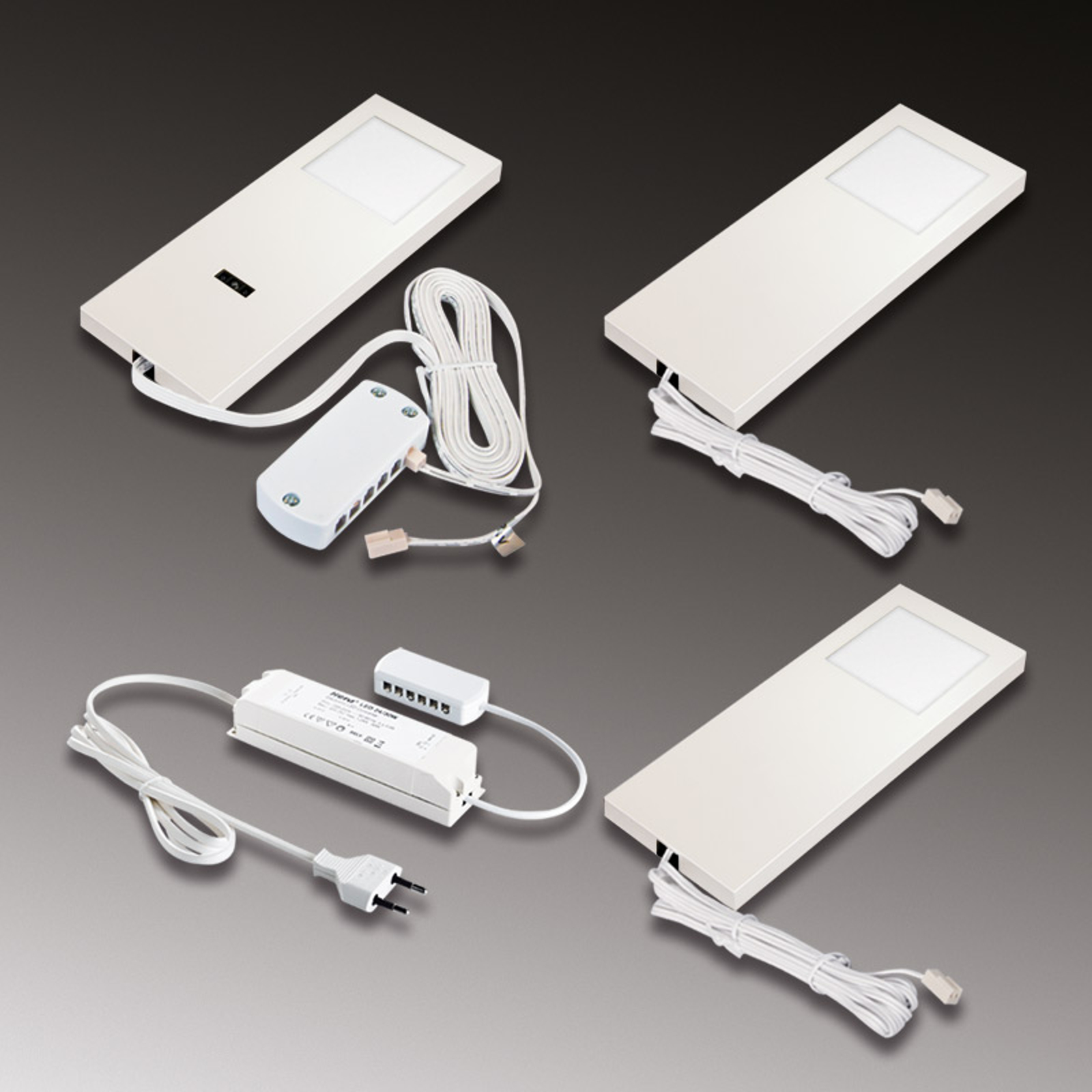 Unterbauleuchte LED Slim-Pad F 3er-Set 3.000K weiß