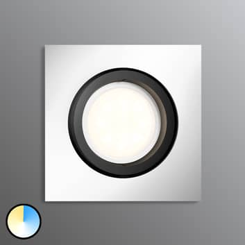 Philips Hue Milliskin LED-Einbauspot eckig, alu