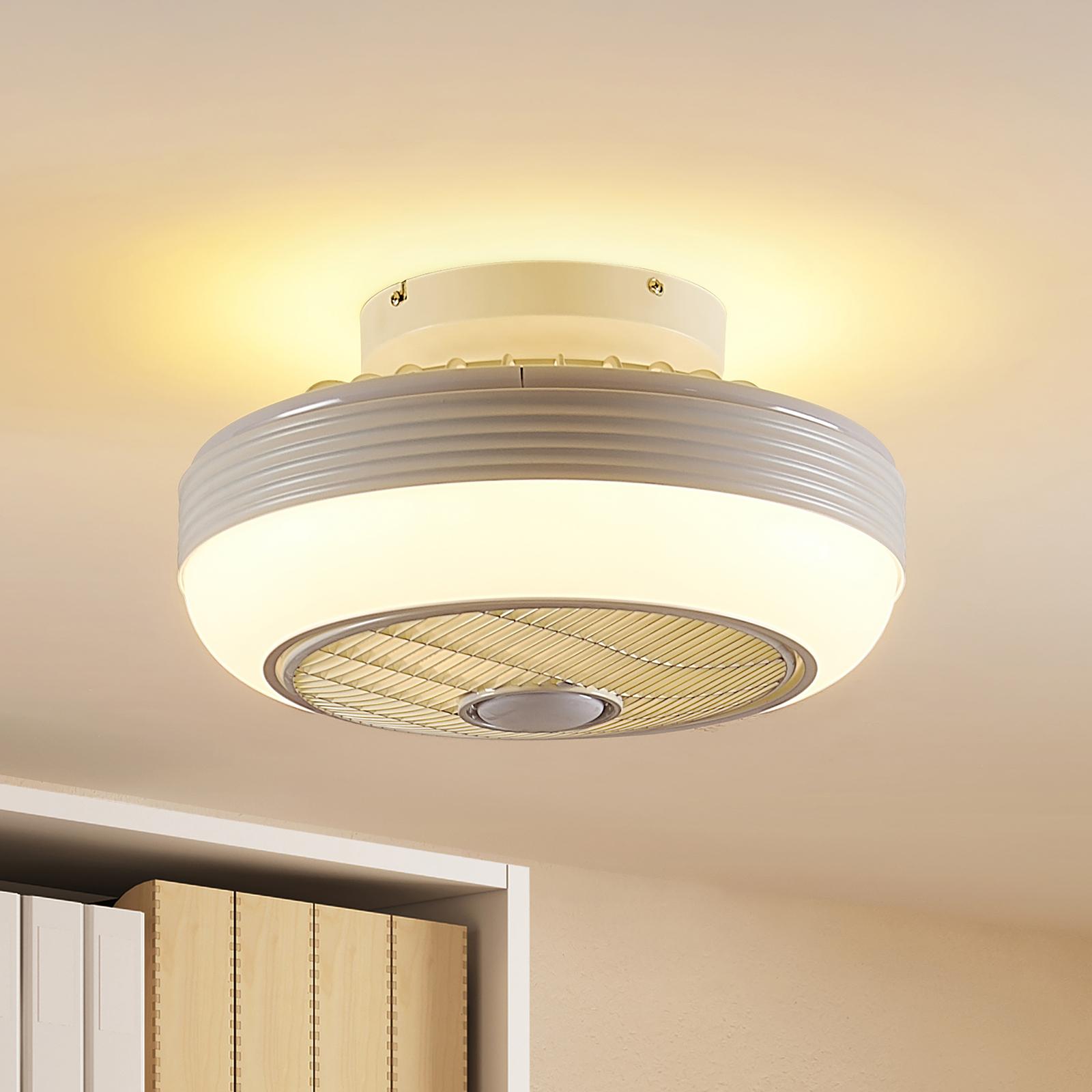 Lindby Thyron LED-loftventilator, hvid