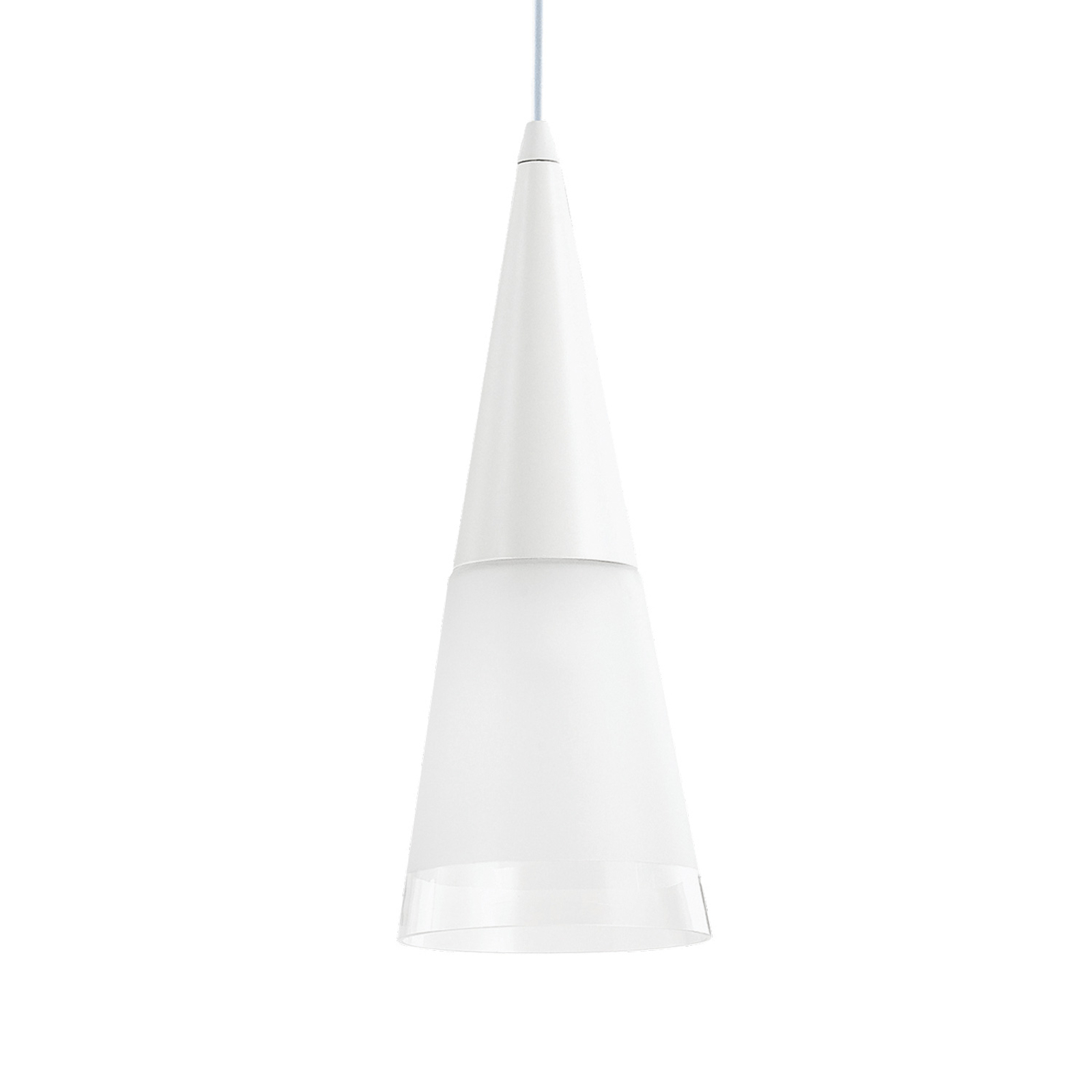 Hängeleuchte Cono einflammig weiß/transparent