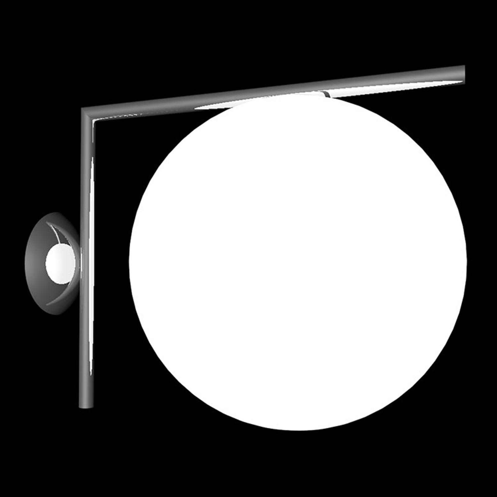 FLOS IC C/W2 Wandleuchte, schwarz Ø 30 cm