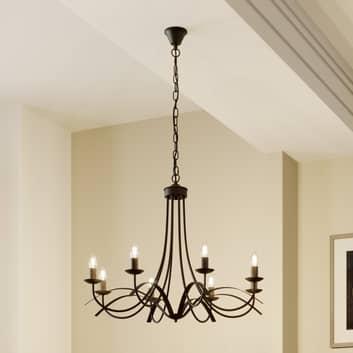 Lindby Amonja lámpara de araña, 8 luces, marrón