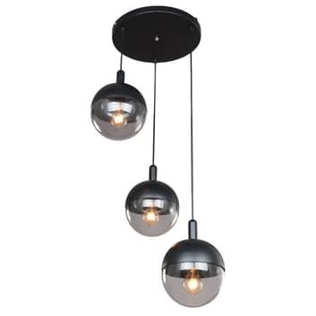 Lucande Dustian hanglamp, 3-lamps, 51 cm