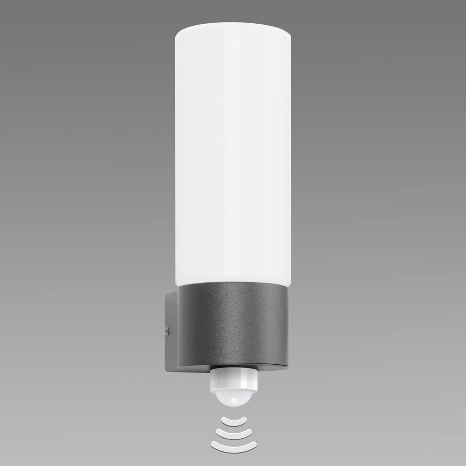 Fraaie buitenwandlamp Gray, met sensor