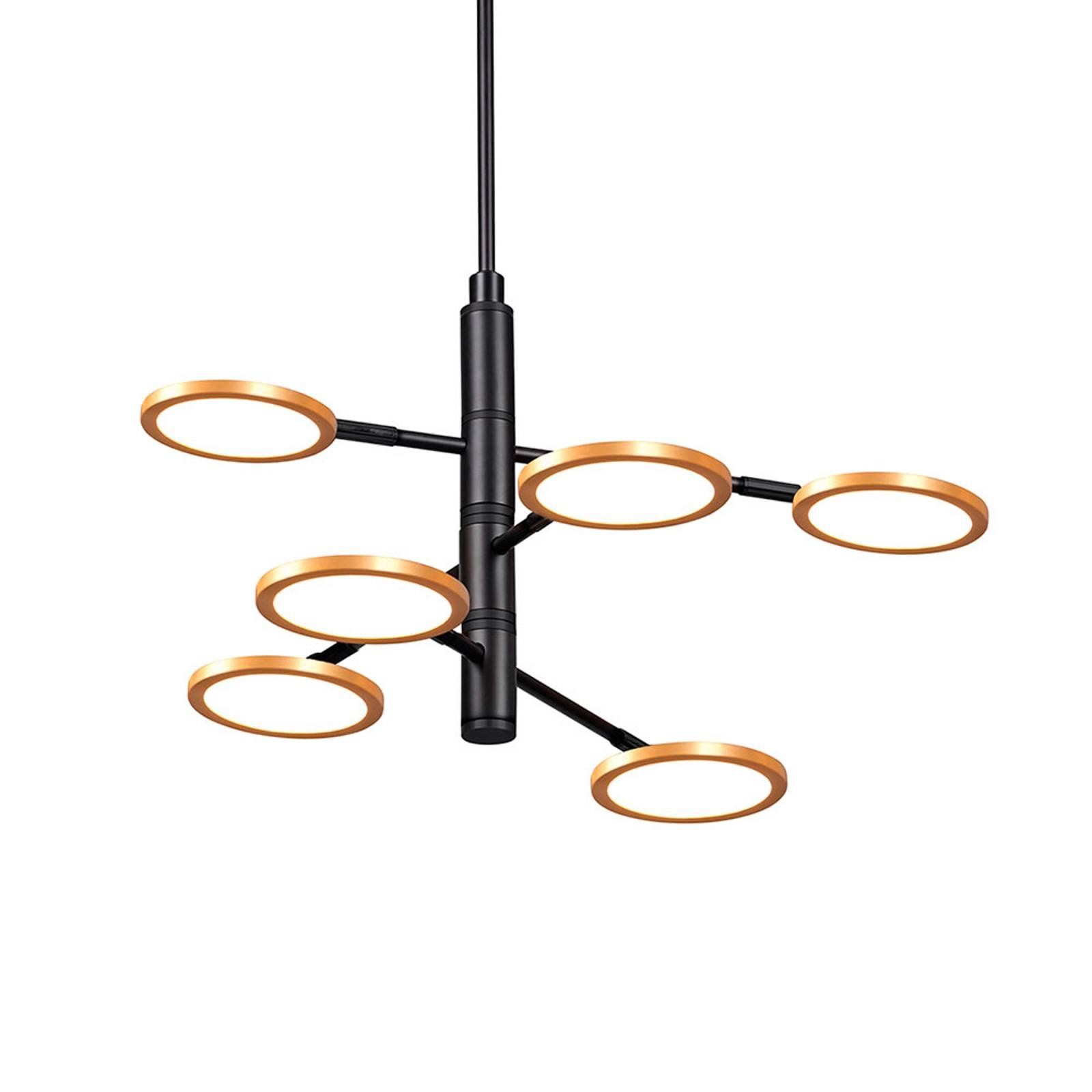 Suspension LED Sparkle, Ø 60 cm, à 6 lampes