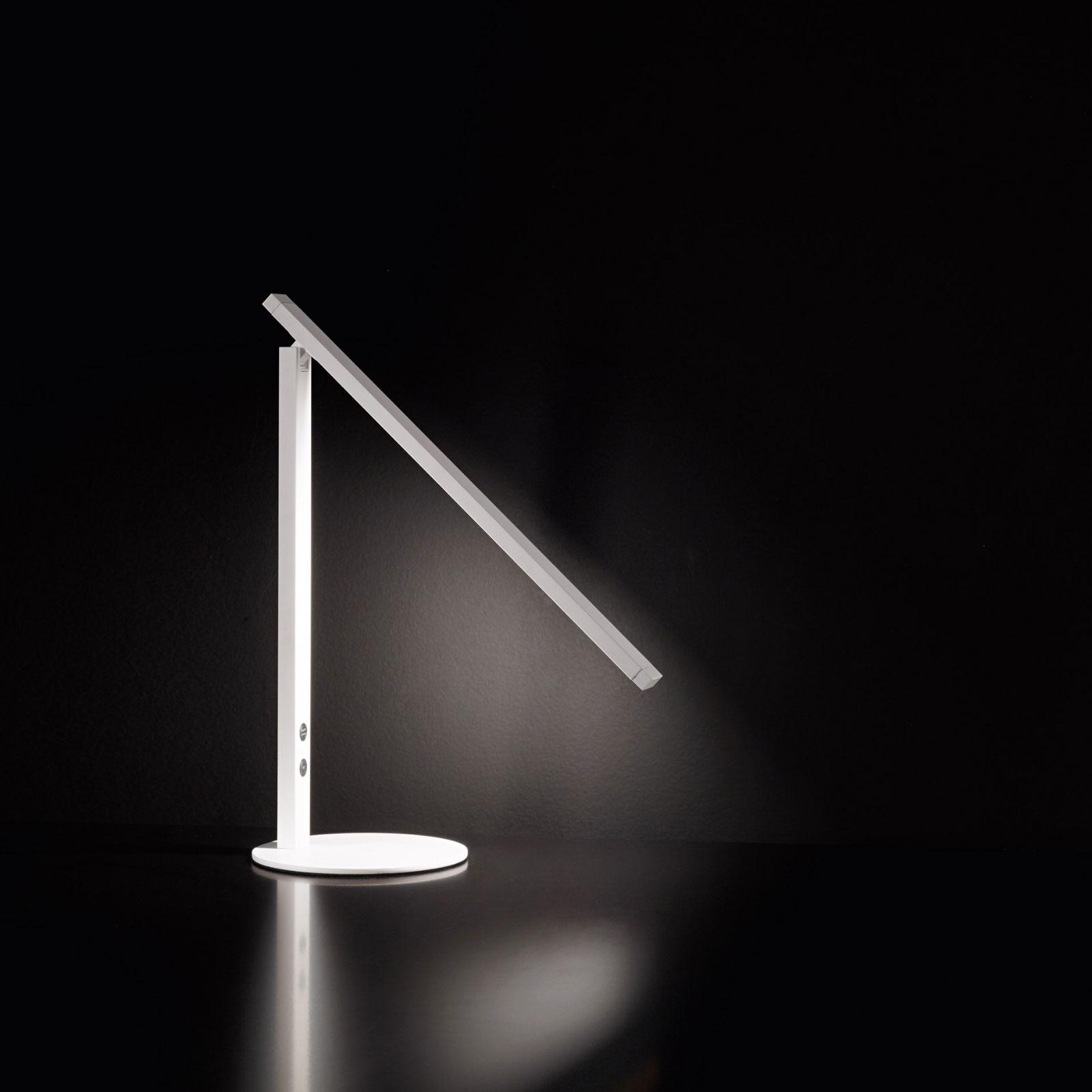 LED-Schreibtischleuchte Ideal mit Dimmer, weiß