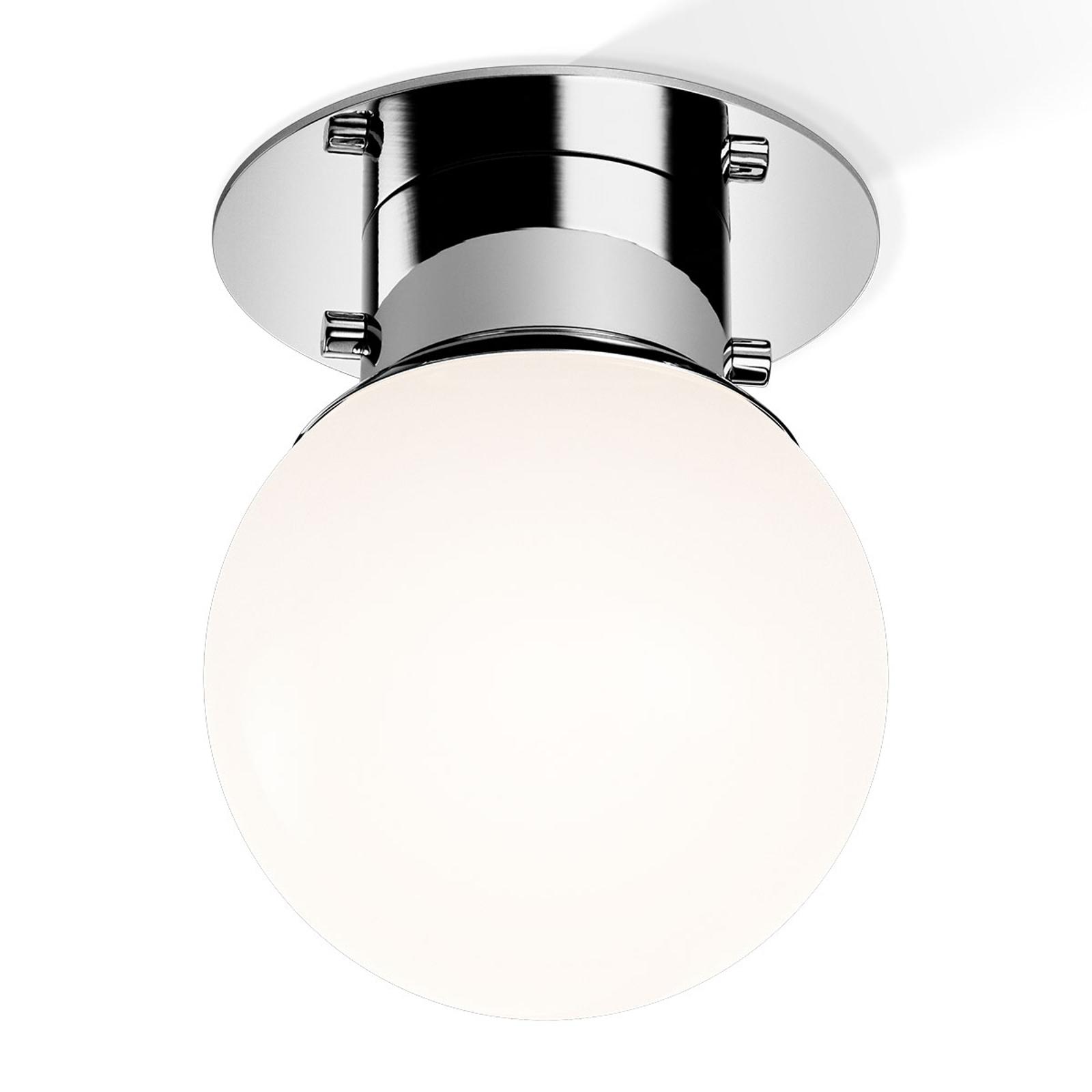 Clásica lámpara de techo esférica GLOBE cromo