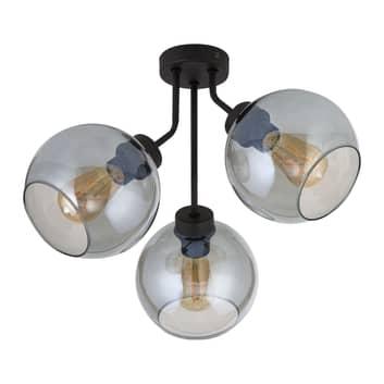 Plafondlamp Cubus, 3-lamps, grafiet