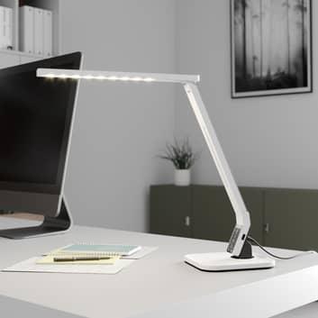 Arcchio Lianel LED-skrivbordslampa, vit