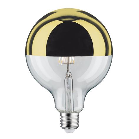 Ampoule LED E27 G125 827 6,5W tête miroir dorée