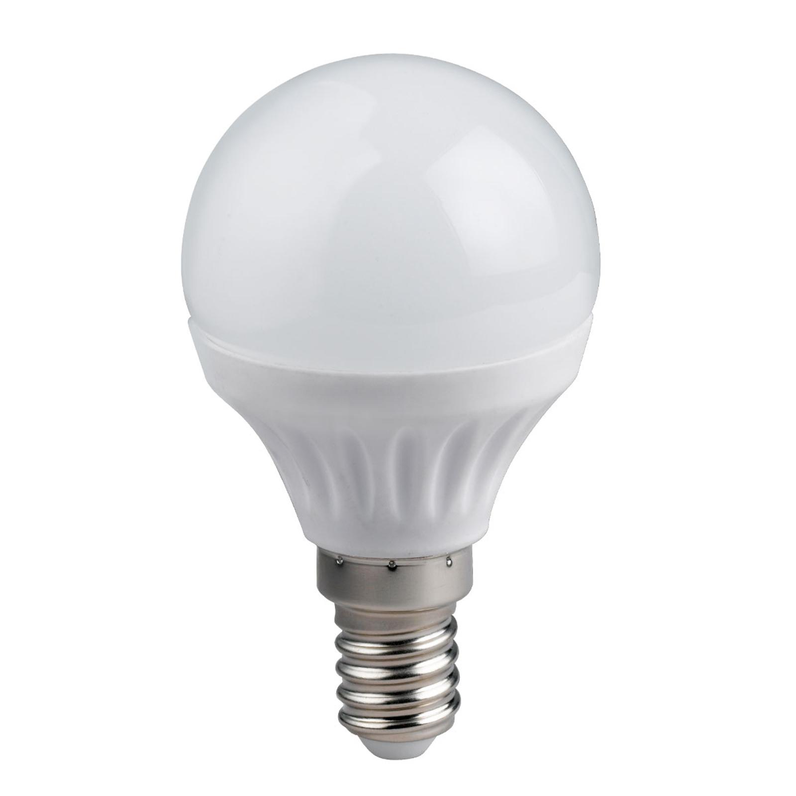 LED-Tropfenlampe E14 5W 3.000 K dimmbar
