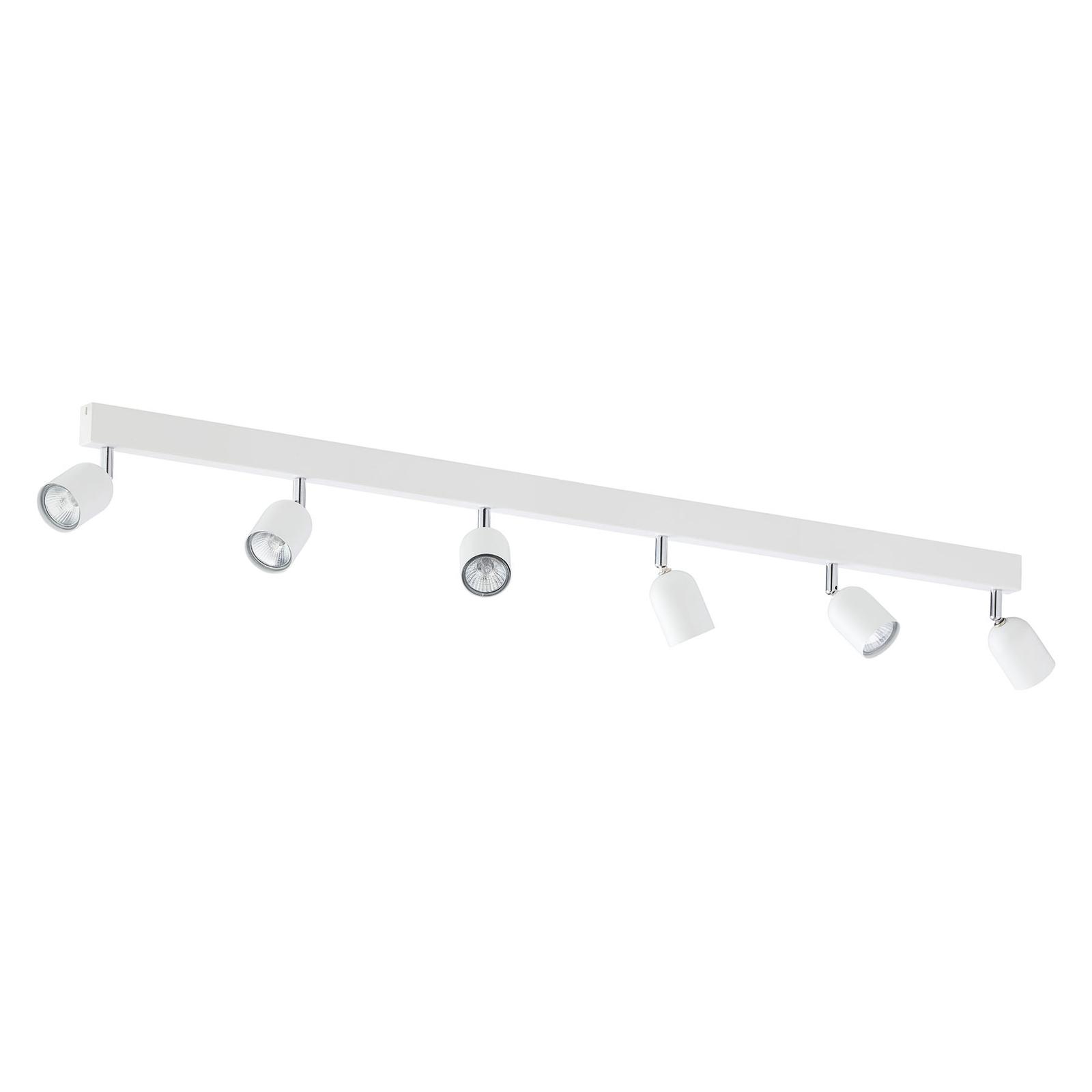 Takspotlight Top, 6 lampor, avlång, vit