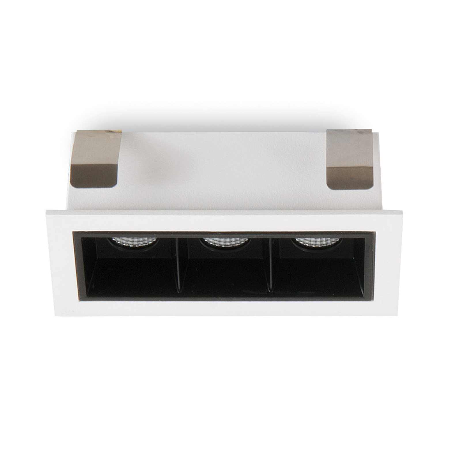 Spot LED incasso Sound 3 30° con telaio bianco