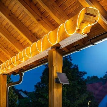 LED-lysslange, solceller, 200 Pro