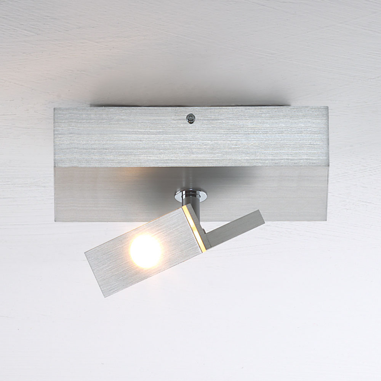 Mały spot sufitowy LED Elle, odchylany i obracany