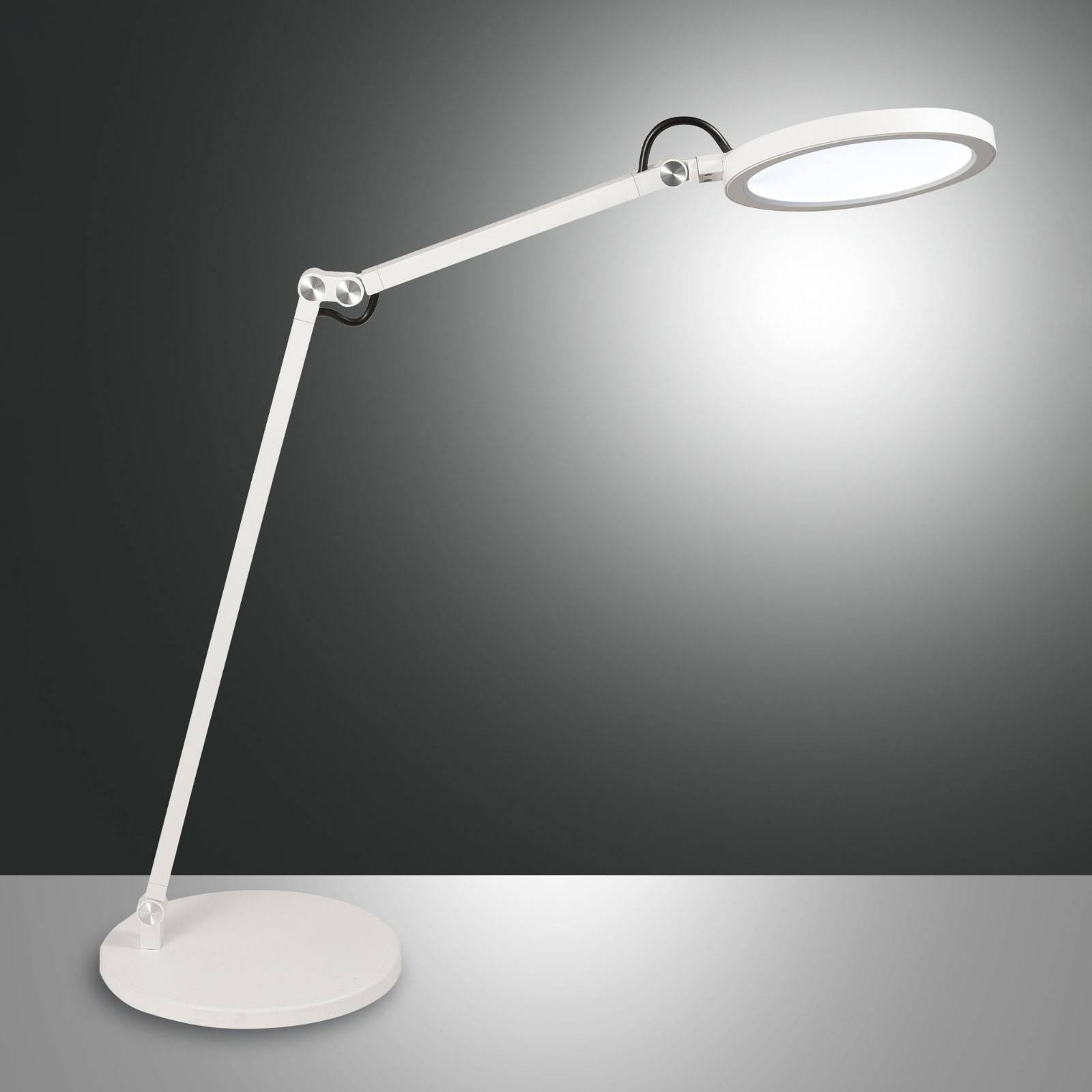 LED bureaulamp Regina met dimmer, wit