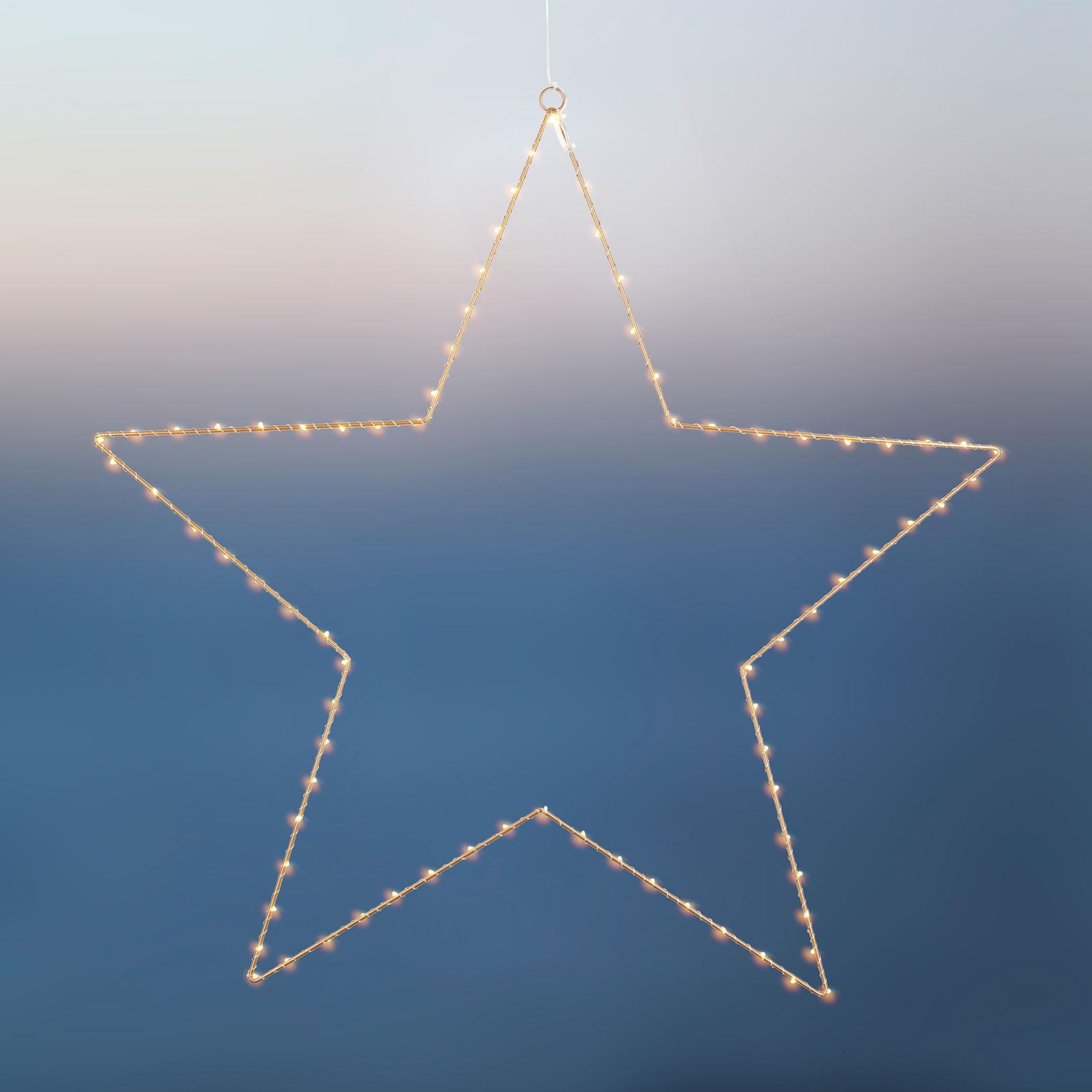 Stella decorativa LED Liva Star, oro, Ø 70 cm