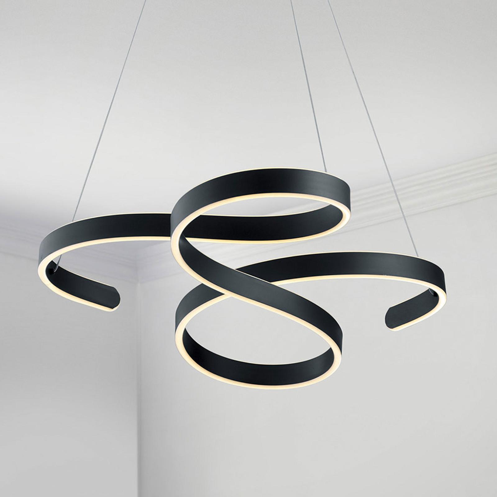 Lampa wisząca LED Francis, antracytowa