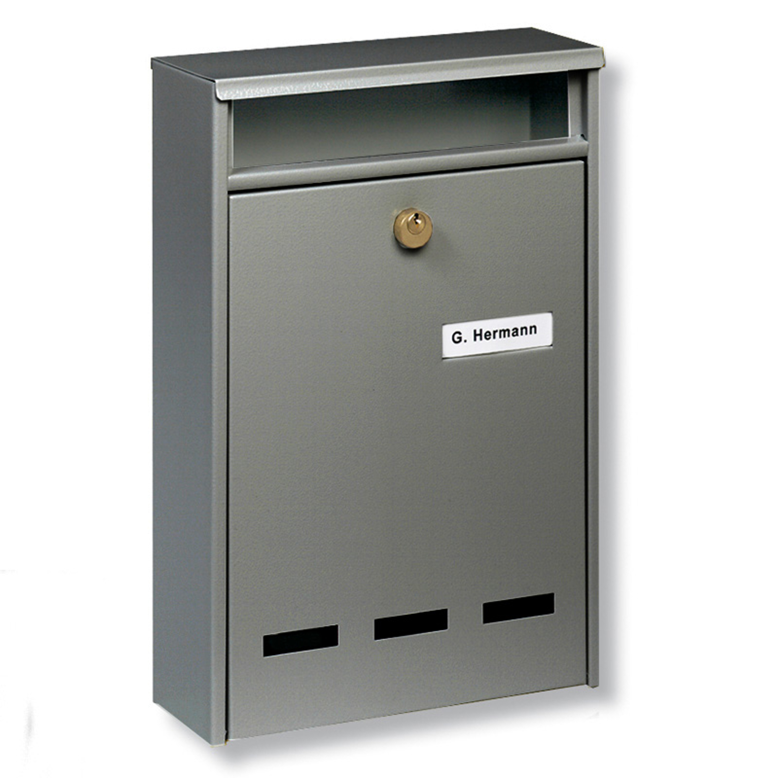 WISMAR B5 standard-anlægspostkasse, grå