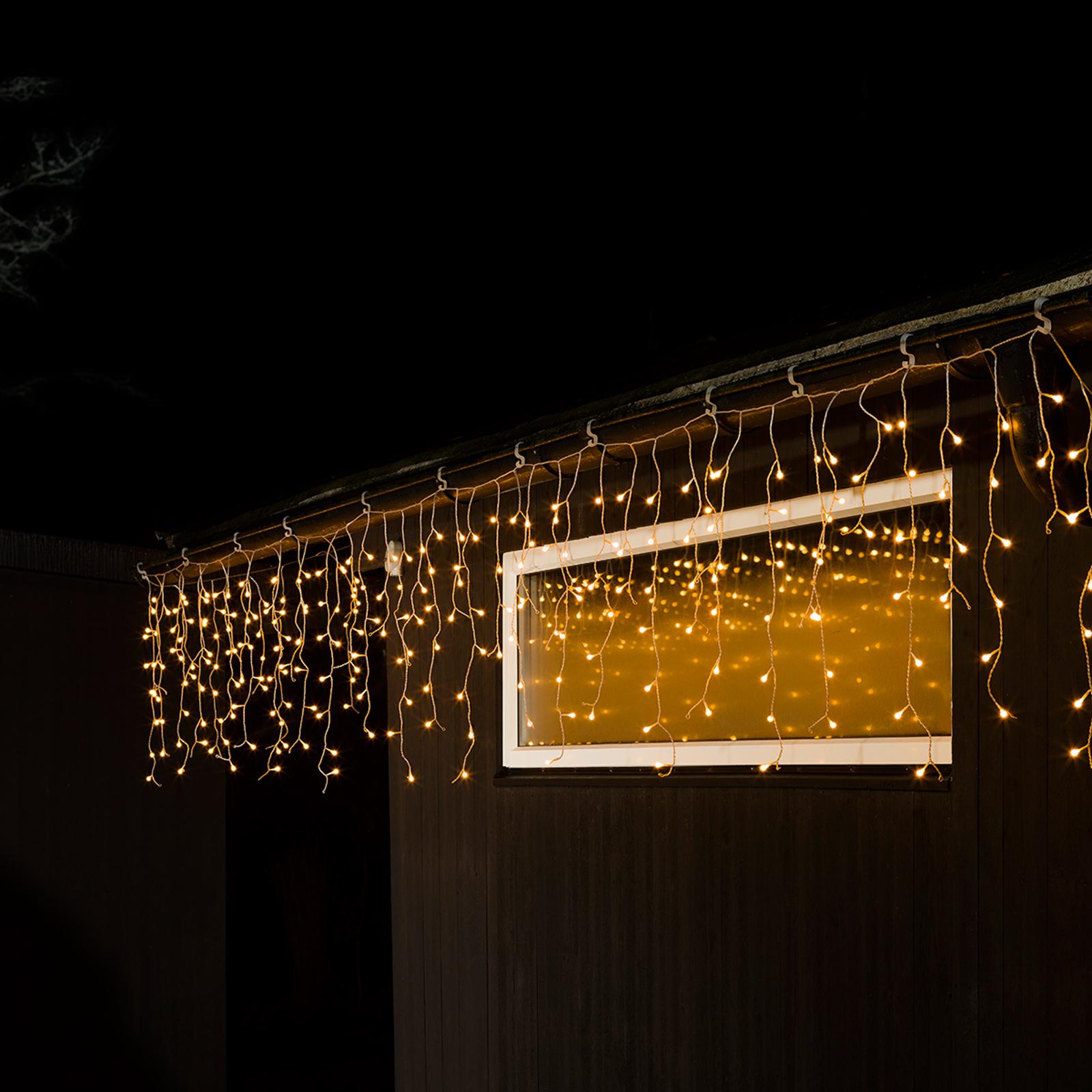 Isregn-LED-lysgardin, 200 lyskilder, udendørs brug