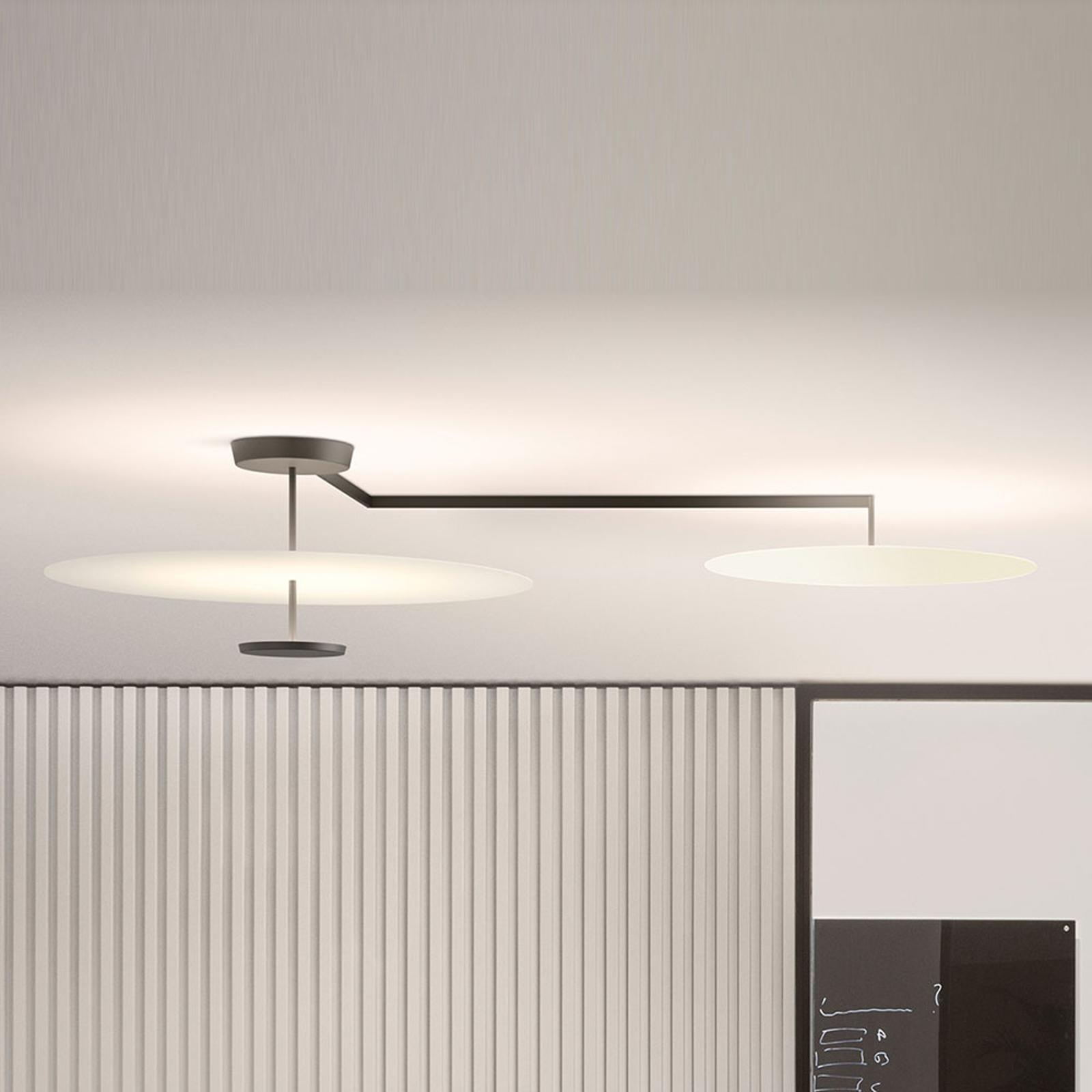 Vibia Flat LED-Deckenleuchte 3-flg. Ø 55 cm weiß