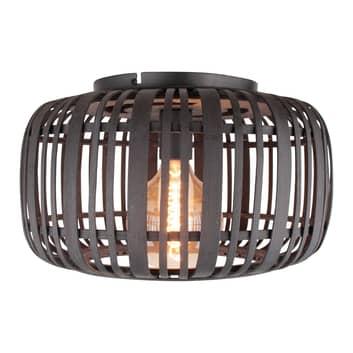 Deckenlampe Woodrow mit Bambus-Käfigschirm