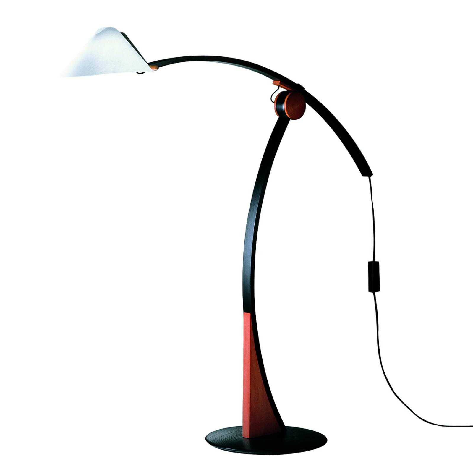 Lampa stojąca Pollo E27,wiśniowo-czarna,ściemniana