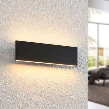 Lindby Ignazia LED wandlamp, 28 cm, zwart
