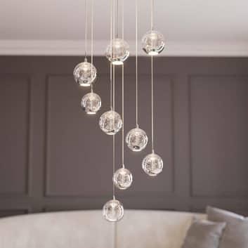 Lucande Hayley LED hanglamp, 9-lamps, chroom