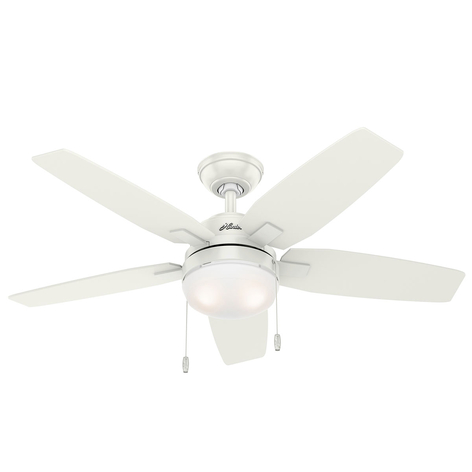 Hunter Arcot Ventilator mit Licht, weiß/grau