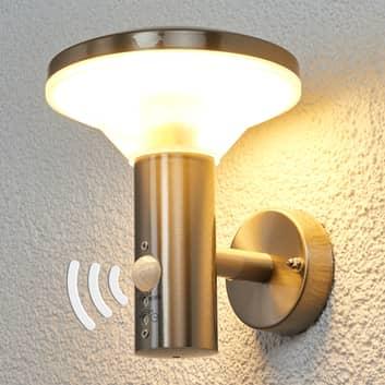 Lámpara de pared exterior con sensor Jiyan con LED