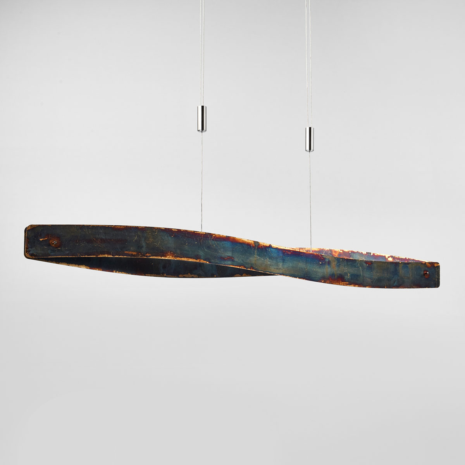 LED-Pendelleuchte Lian m. oxidierter Oberfläche