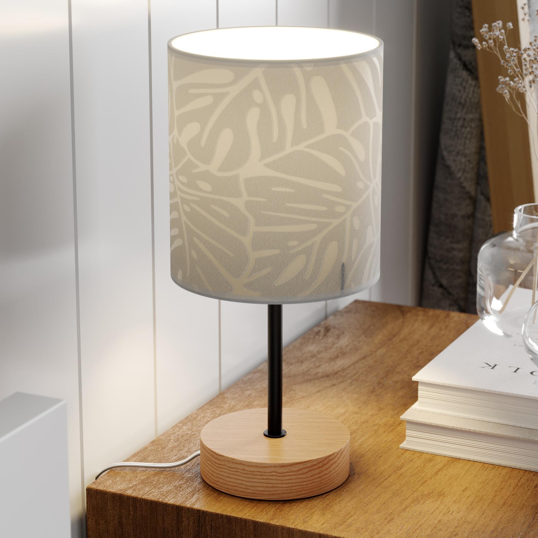 Tafellamp Hierro met bedrukte papieren kap