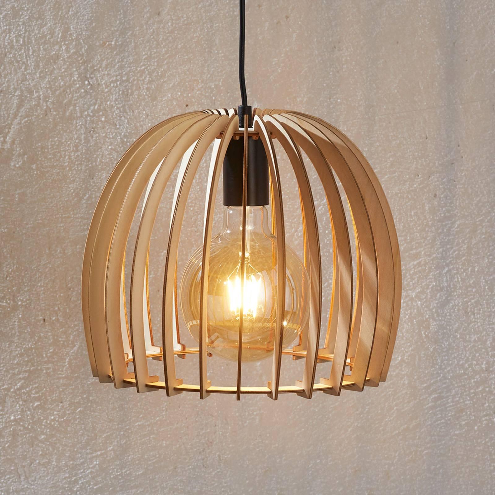 Drewniana lampa wisząca Bela, Ø 30cm