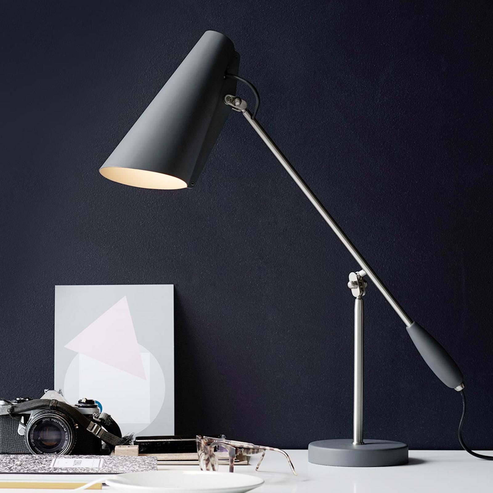 Northern Birdy - lámpara de mesa retro, gris