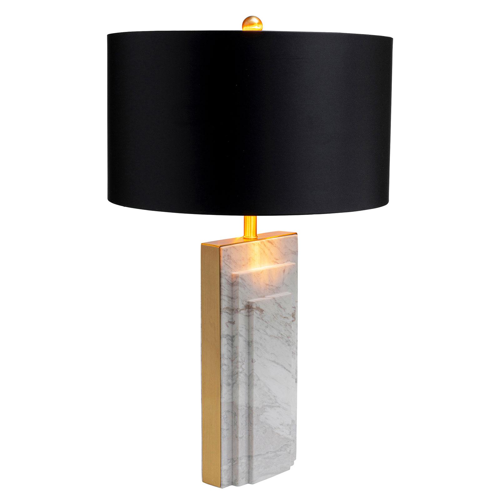 KARE Rumba Marble lampa stołowa marmur, biała