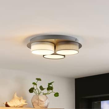 Lindby Aviola LED-Deckenlampe mit 3 Textilschirmen