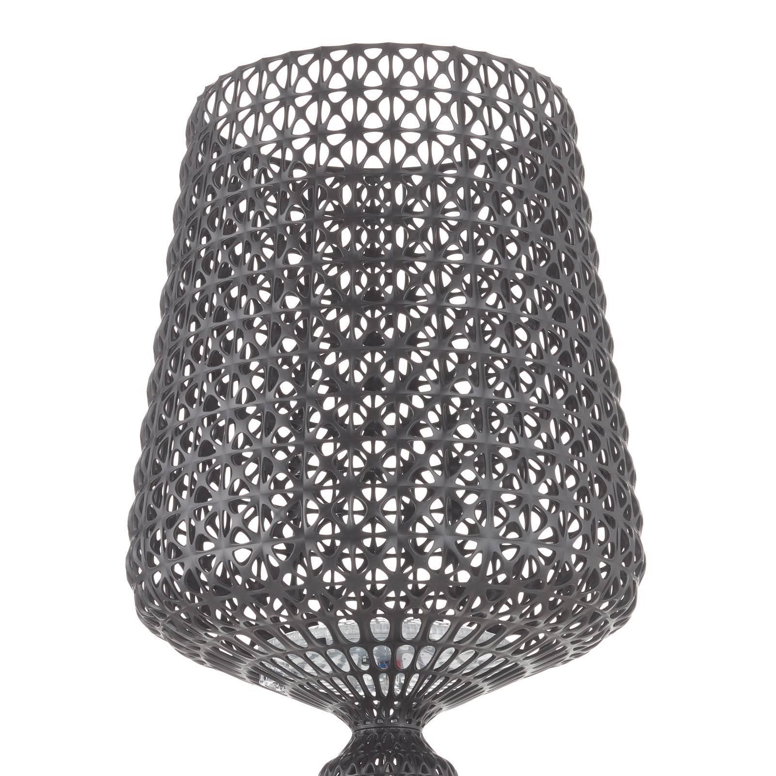 Designerska lampa stojąca LED Kabuki, czarna