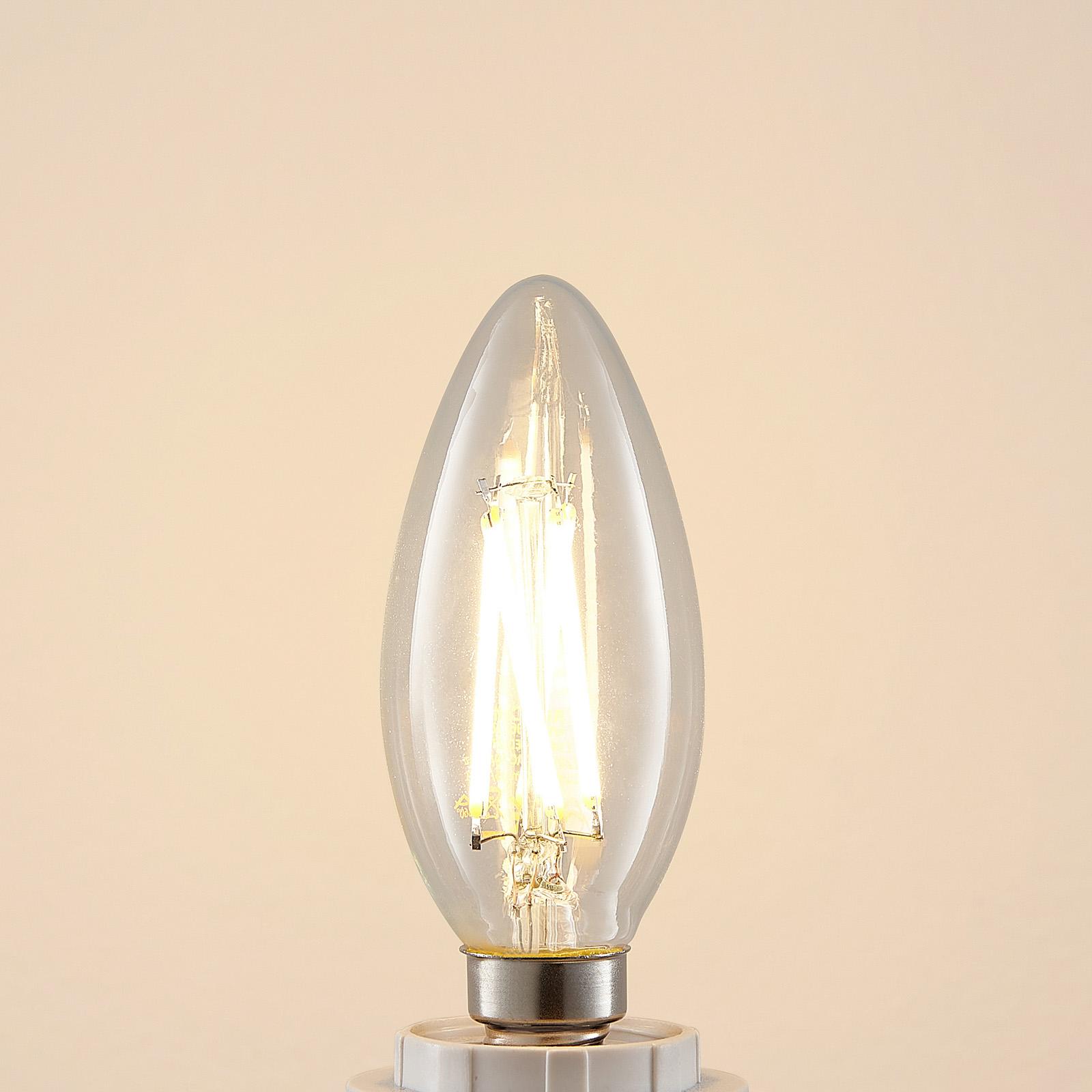 LED-lampa E14 4W 2700K ljus, filament, dimbar