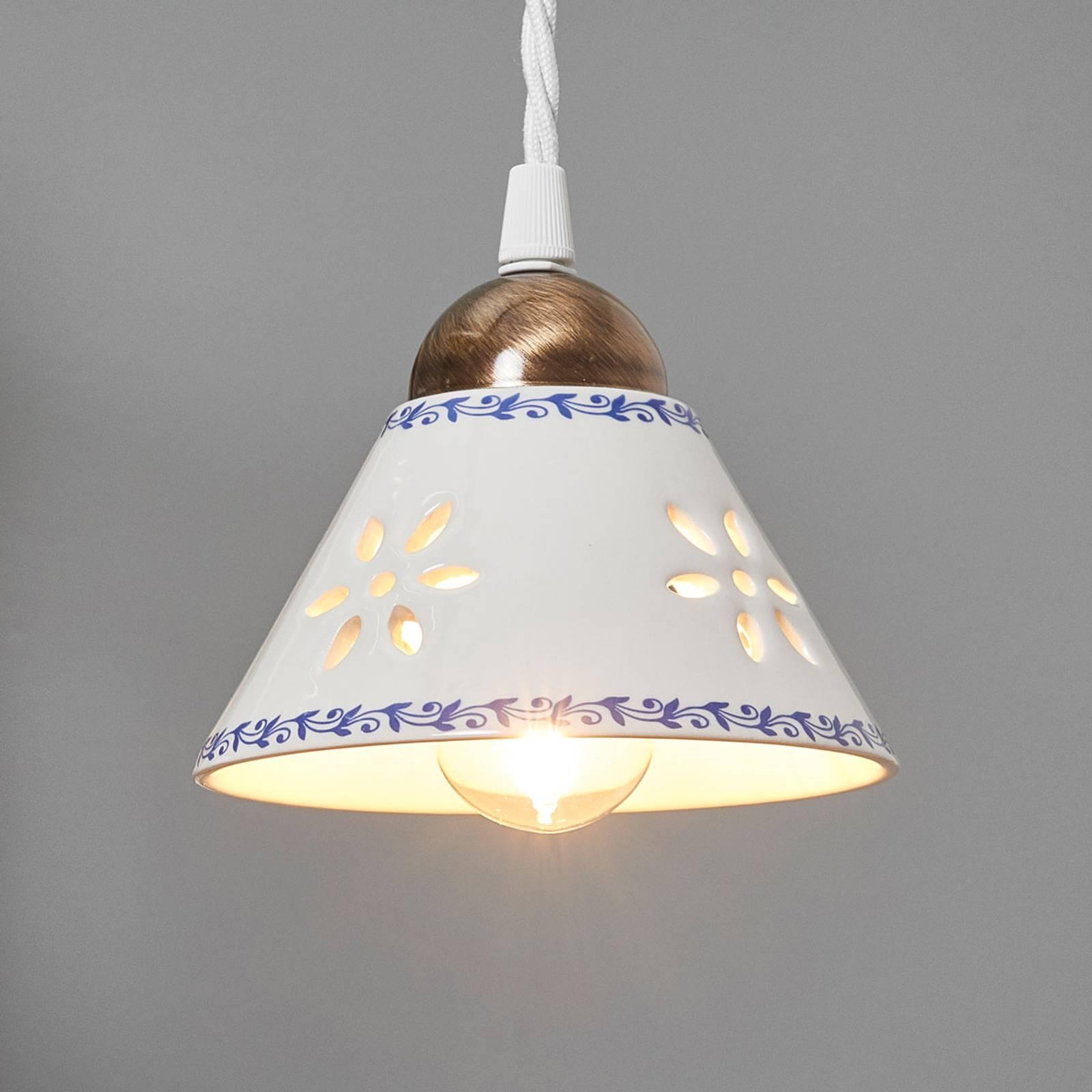 Lampa wisząca NONNA z białej ceramiki
